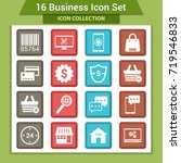 business finance icon set | Shutterstock .eps vector #719546833