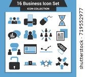 business finance icon set | Shutterstock .eps vector #719552977