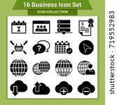business finance icon set | Shutterstock .eps vector #719552983
