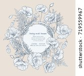 wedding invitations with... | Shutterstock .eps vector #719559967