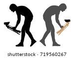 cameraman silhouette | Shutterstock .eps vector #719560267