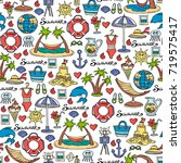 vector seamless pattern with... | Shutterstock .eps vector #719575417