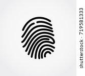 fingerprint. vector... | Shutterstock .eps vector #719581333