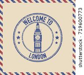 grunge vector stamp of london... | Shutterstock .eps vector #719600773