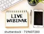 webinar.   notes about webinar  ... | Shutterstock . vector #719607283