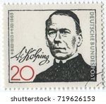 germany   circa 1965  postage... | Shutterstock . vector #719626153