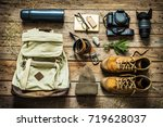 traveling   packing  preparing  ... | Shutterstock . vector #719628037