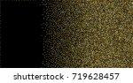 gold metallic glitter of... | Shutterstock .eps vector #719628457