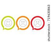 smiley icons. different emotions | Shutterstock .eps vector #719630863