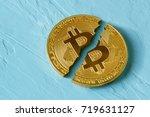 Coin Bitcoin Is Broken In Half...