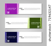 vector abstract design banner...   Shutterstock .eps vector #719632147