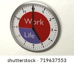 watch hanging on a wall with 2...   Shutterstock . vector #719637553