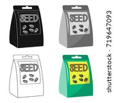 seeds  single icon in cartoon... | Shutterstock .eps vector #719647093
