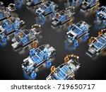 3d rendering  car frames with...   Shutterstock . vector #719650717