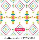 seamless colorful aztec pattern.... | Shutterstock .eps vector #719655883