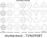 3d illustration of platonic...   Shutterstock . vector #719659387