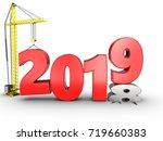 3d illustration of 2019 year...   Shutterstock . vector #719660383
