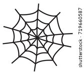 vector icon spider's web... | Shutterstock .eps vector #719660587