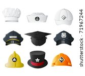 illustration of set of hat from ... | Shutterstock .eps vector #71967244