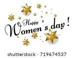 happy women's day  beautiful... | Shutterstock .eps vector #719674537