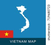 vietnam map and flag. isolated... | Shutterstock .eps vector #719680723
