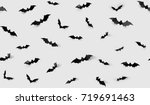 halloween decorations concept   ... | Shutterstock . vector #719691463