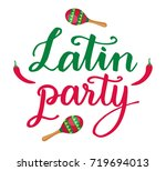 latin party hand drawn... | Shutterstock .eps vector #719694013