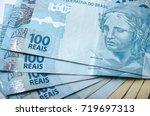 Closeup On Brazilian Money...