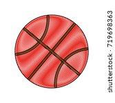 basketball ball icon  | Shutterstock .eps vector #719698363