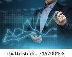 financial graph. stock market... | Shutterstock . vector #719700403
