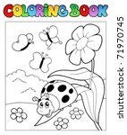 coloring book with ladybug 1  ... | Shutterstock .eps vector #71970745