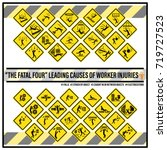 set of safety signs and symbols ... | Shutterstock .eps vector #719727523