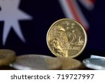 australian two dollar coin with ... | Shutterstock . vector #719727997