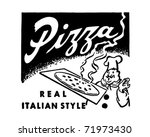 pizza   retro ad art banner