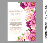 invitation with floral... | Shutterstock .eps vector #719743537