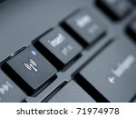 computer keyboard with focus on ... | Shutterstock . vector #71974978