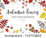 vector floral watercolor style... | Shutterstock .eps vector #719753833