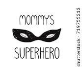superhero face mask... | Shutterstock .eps vector #719755213