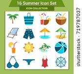 travel and vacation icon... | Shutterstock .eps vector #719787037