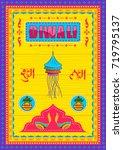 vector design of happy diwali... | Shutterstock .eps vector #719795137