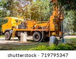 ground water hole drilling... | Shutterstock . vector #719795347