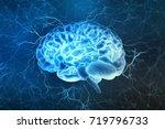 human brain digital... | Shutterstock . vector #719796733