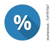 flat white percentage web icon... | Shutterstock . vector #719797567