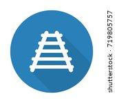 flat white railroad web icon... | Shutterstock . vector #719805757