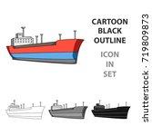 oil ship.oil single icon in... | Shutterstock .eps vector #719809873