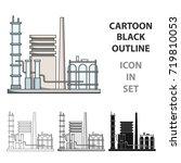 refinery.oil single icon in... | Shutterstock .eps vector #719810053