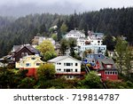 a panoramic photo of the town... | Shutterstock . vector #719814787