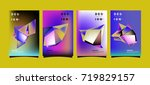 abstract colorful geometric... | Shutterstock .eps vector #719829157
