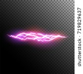 lightning and electric effect.... | Shutterstock .eps vector #719829637