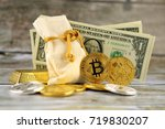 physical version of bitcoin ... | Shutterstock . vector #719830207